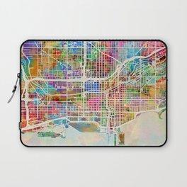 Chicago City Street Map Laptop Sleeve