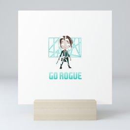 GO ROGUE Mini Art Print