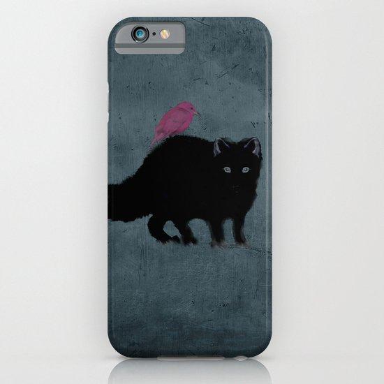 Cat and bird friends! iPhone & iPod Case