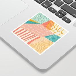beach quilt Sticker