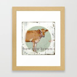 jersey cow Framed Art Print
