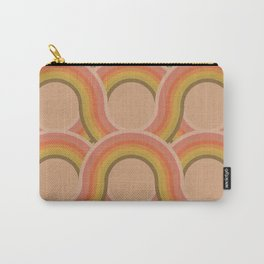 Rollin' Retro Road in Peachy Keen Tetxtured Carry-All Pouch