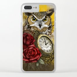 Time is Wise Clear iPhone Case