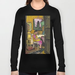 Mom's mother at cooler, San Diego, Encanto, ca. 1945, rare oil painting copy of image. Long Sleeve T-shirt