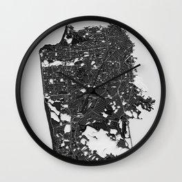 San Francisco – Abstract Map Wall Clock