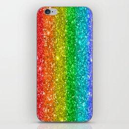 Glittery Rainbow iPhone Skin
