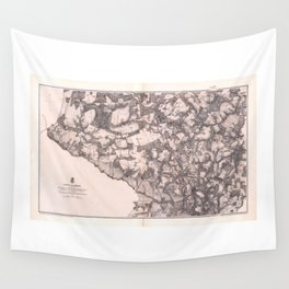 Map of Cold Harbor, Virginia (June 1-3, 1864) Wall Tapestry
