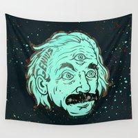 physics Wall Tapestries featuring Genius by Beery Method