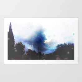 Sunshine through the rain Art Print