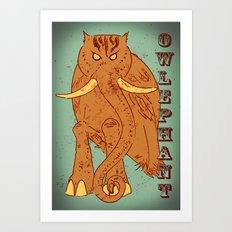 Owlephant Art Print