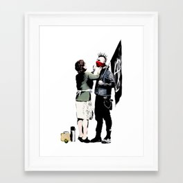Banksy, Anarchist Punk And His Mother Artwork, Posters, Prints, Bags, Tshirts, Men, Women, Kids Framed Art Print