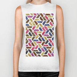 Seamless Colorful Geometric Pattern XIV Biker Tank
