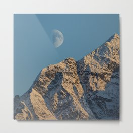 Moon Over Pioneer Peak - II Metal Print