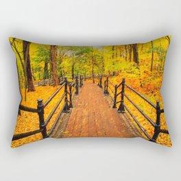 Wooden boardwalk Rectangular Pillow