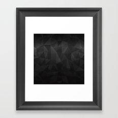Black triangle pattern Framed Art Print