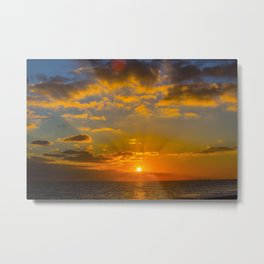 Hythe Sunset Metal Print