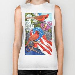 Patriotic Cardinals Biker Tank