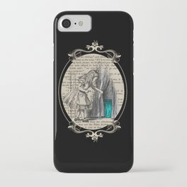 Follow The White Rabbit - Vintage Book iPhone Case