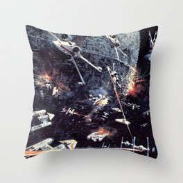 Concept Space Battle Throw Pillow
