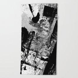 Black and White 01013 Beach Towel