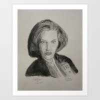 scully Art Prints featuring Scully by William Buck