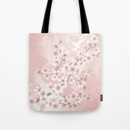 Vintage Floral Cherry Blossom Tote Bag