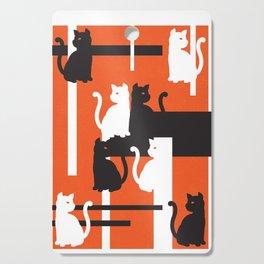 Cat in De Stijl - Halloween Edition Cutting Board
