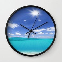 Sunny Sea Wall Clock