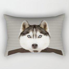 Husky Man Rectangular Pillow