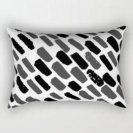 Oblique dots black and white Rectangular Pillow