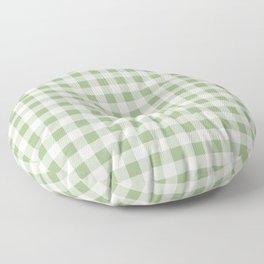 Gingham Pattern - Natural Green Floor Pillow