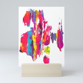 Abstract Paint Smear Party Mini Art Print