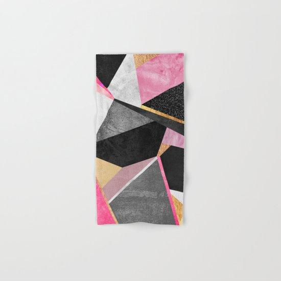 Geometry / Pink Hand & Bath Towel