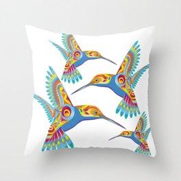 Decorative Hummingbirds Throw Pillow