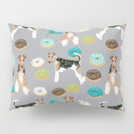 Wire Fox Terrier donuts dog pattern dog lover gifts for dog person dog breeds pet friendly Pillow Sham