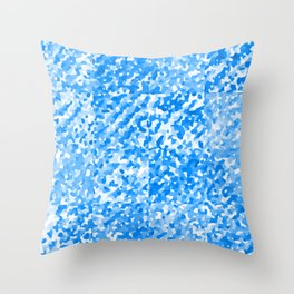 Blue Delight (Squares) Throw Pillow