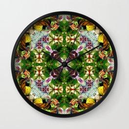 Kaleidoscpe Leaf Wall Clock