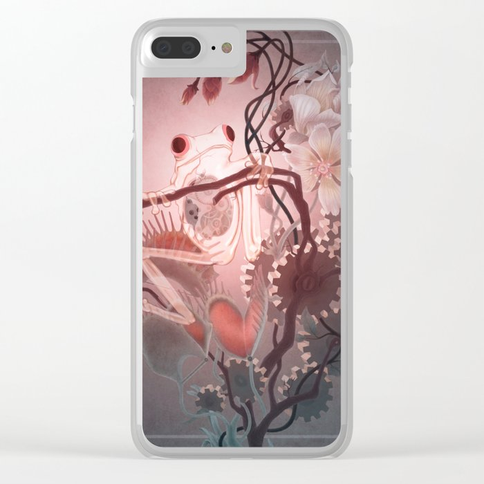 Clockwork Frog Clear iPhone Case