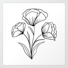 Flowing Florals Art Print