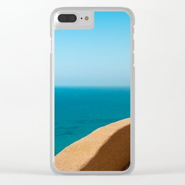 balcony in paradise Clear iPhone Case