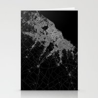 poland Stationery Cards featuring Warsaw map poland by Line Line Lines