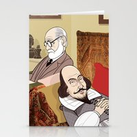freud Stationery Cards featuring Freud analysing Shakespeare by drawgood