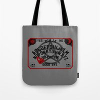 ouija Tote Bags featuring Ouija Board by CarloJ1956