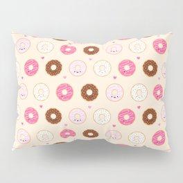Cute Little Donuts on Cream Pillow Sham