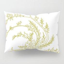Olive Flowers in Vase Pillow Sham