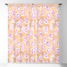 moons and madness at dawn watercolor Blackout Curtain