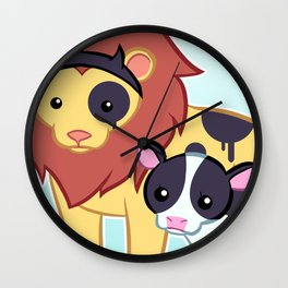 Lion Cow Wall Clock