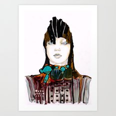 Warrior fashion portrait Art Print