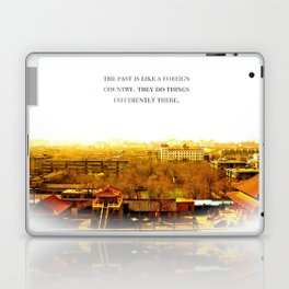 the past is like a foreign country. Laptop & iPad Skin