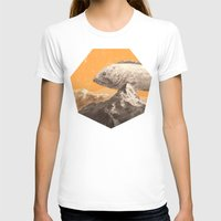 bass T-shirts featuring Mountain Bass by Sam Rowe Illustration
